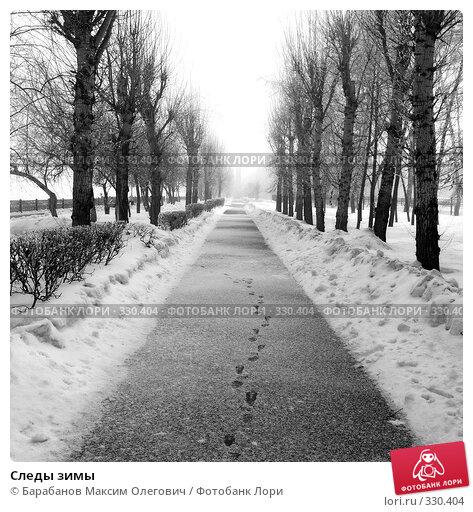Следы зимы, фото № 330404, снято 2 февраля 2008 г. (c) Барабанов Максим Олегович / Фотобанк Лори