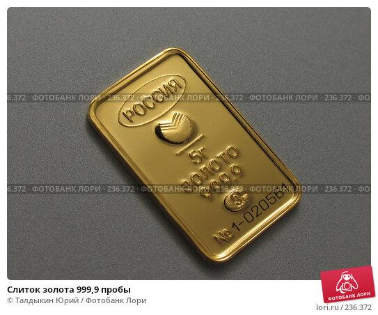 Купить «Слиток золота 999,9 пробы», фото № 236372, снято 29 марта 2008 г. (c) Талдыкин Юрий / Фотобанк Лори