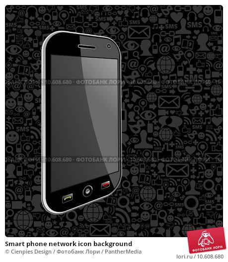 Smart phone network icon background. Стоковая иллюстрация, иллюстратор Cienpies Design / PantherMedia / Фотобанк Лори