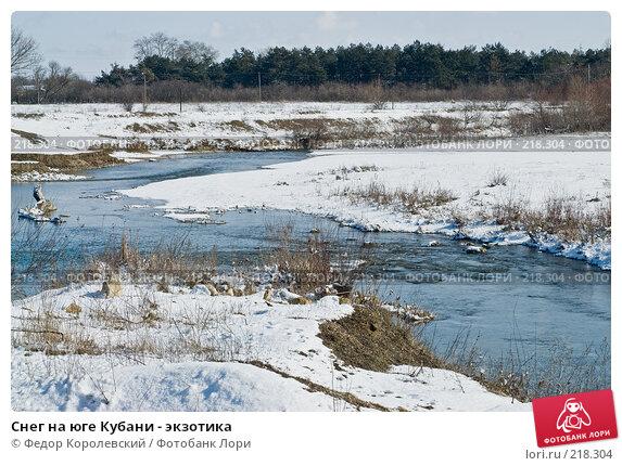 Снег на юге Кубани - экзотика, фото № 218304, снято 16 февраля 2008 г. (c) Федор Королевский / Фотобанк Лори