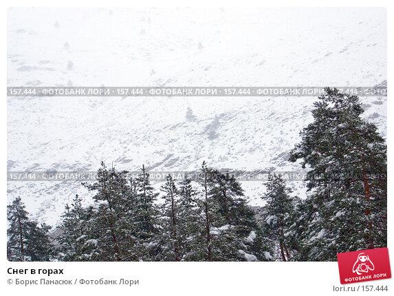 Снег в горах, фото № 157444, снято 13 декабря 2007 г. (c) Борис Панасюк / Фотобанк Лори