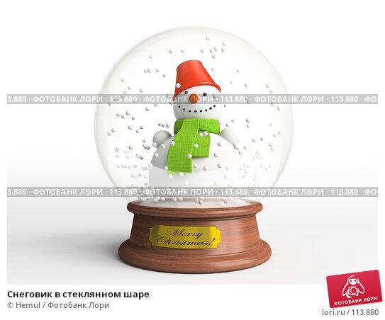 Снеговик в стеклянном шаре, иллюстрация № 113880 (c) Hemul / Фотобанк Лори