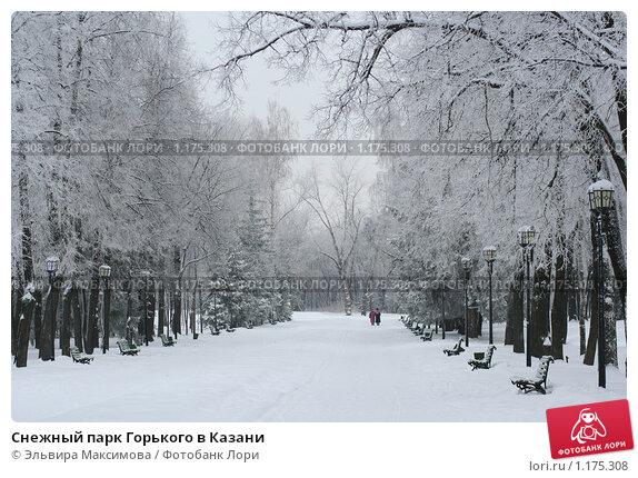 Купить «Снежный парк Горького в Казани», фото № 1175308, снято 22 января 2009 г. (c) Эльвира Максимова / Фотобанк Лори