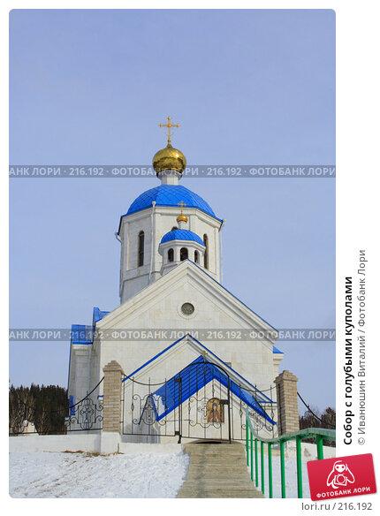 Купить «Собор с голубыми куполами», фото № 216192, снято 24 февраля 2008 г. (c) Иванюшин Виталий / Фотобанк Лори