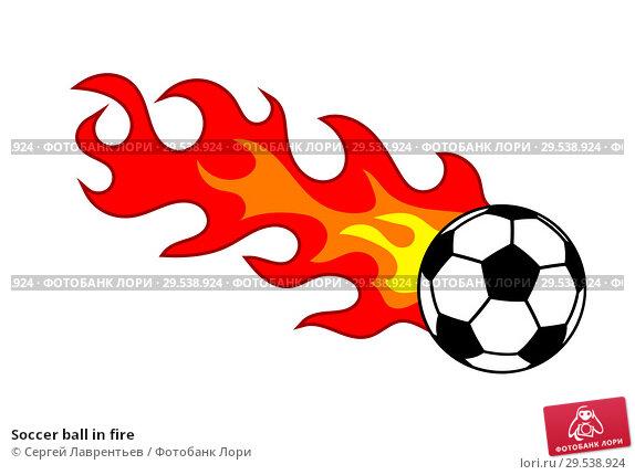 Купить «Soccer ball in fire», иллюстрация № 29538924 (c) Сергей Лаврентьев / Фотобанк Лори