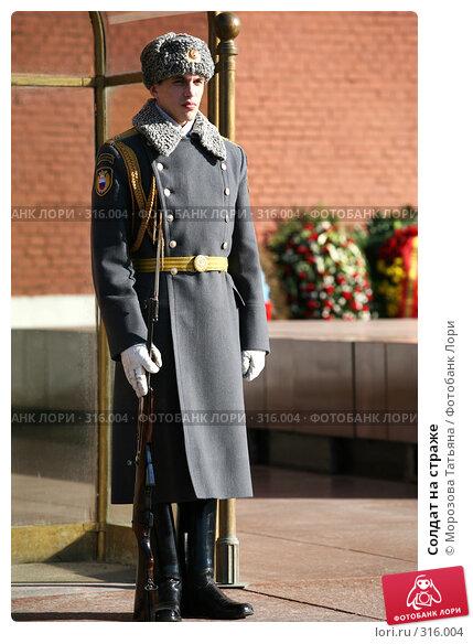 Солдат на страже, фото № 316004, снято 24 марта 2007 г. (c) Морозова Татьяна / Фотобанк Лори