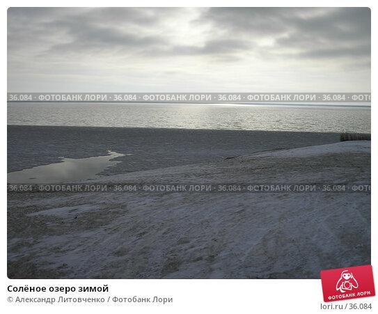 Солёное озеро зимой, фото № 36084, снято 20 января 2007 г. (c) Александр Литовченко / Фотобанк Лори