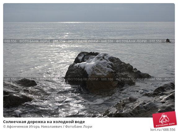 Купить «Солнечная дорожка на холодной воде», фото № 688556, снято 4 января 2009 г. (c) Афонченков Игорь Николаевич / Фотобанк Лори