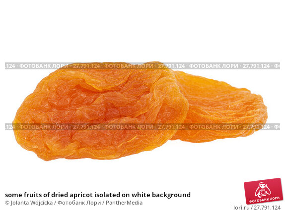 Купить «some fruits of dried apricot isolated on white background», фото № 27791124, снято 22 октября 2018 г. (c) PantherMedia / Фотобанк Лори