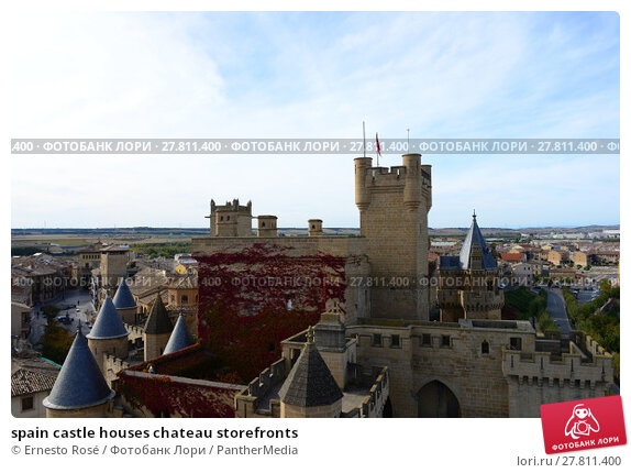 Купить «spain castle houses chateau storefronts», фото № 27811400, снято 22 февраля 2018 г. (c) PantherMedia / Фотобанк Лори