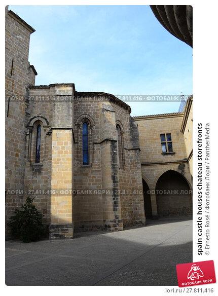 Купить «spain castle houses chateau storefronts», фото № 27811416, снято 20 октября 2018 г. (c) PantherMedia / Фотобанк Лори