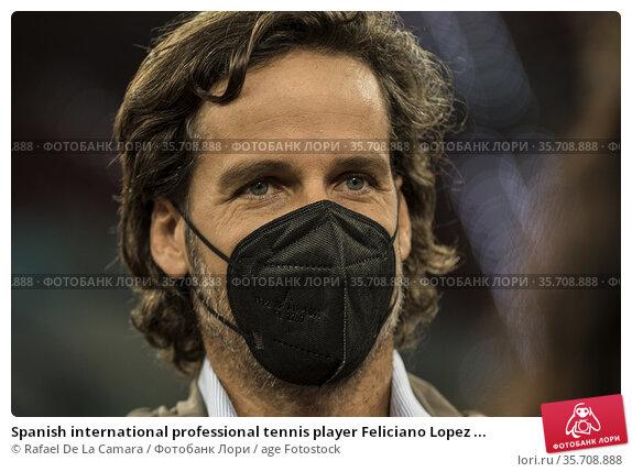 Spanish international professional tennis player Feliciano Lopez ... Редакционное фото, фотограф Rafael De La Camara / age Fotostock / Фотобанк Лори