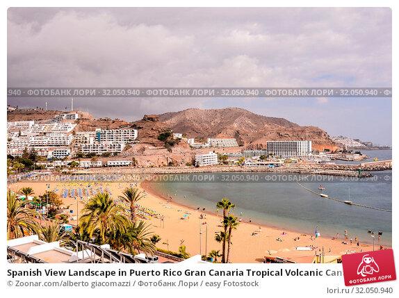 Spanish View Landscape in Puerto Rico Gran Canaria Tropical Volcanic Canary Islands Spain. Стоковое фото, фотограф Zoonar.com/alberto giacomazzi / easy Fotostock / Фотобанк Лори