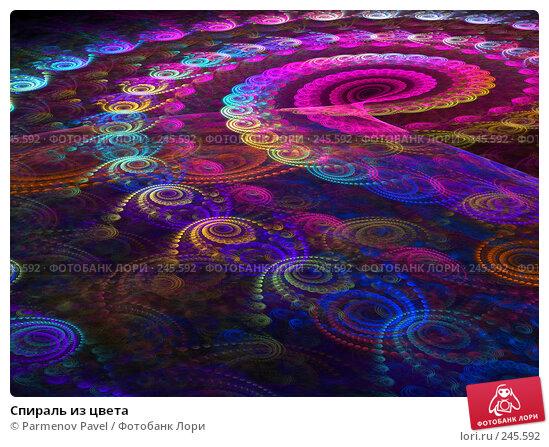 Спираль из цвета, иллюстрация № 245592 (c) Parmenov Pavel / Фотобанк Лори
