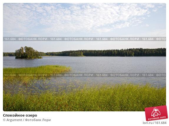 Спокойное озеро, фото № 161684, снято 12 августа 2007 г. (c) Argument / Фотобанк Лори