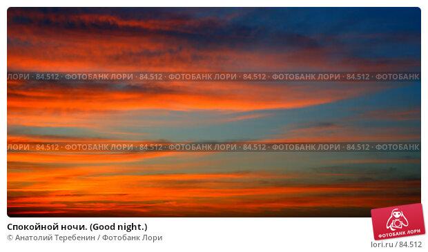 Спокойной ночи. (Good night.), фото № 84512, снято 6 сентября 2007 г. (c) Анатолий Теребенин / Фотобанк Лори