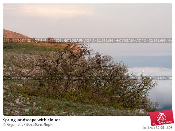 Spring landscape with clouds. Стоковое фото, фотограф Argument / Фотобанк Лори