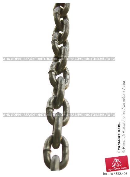 Купить «Стальная цепь», фото № 332496, снято 11 июня 2008 г. (c) Николай Михальченко / Фотобанк Лори
