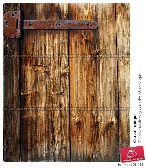 Купить «Старая дверь», фото № 303488, снято 30 марта 2008 г. (c) Николай Винокуров / Фотобанк Лори
