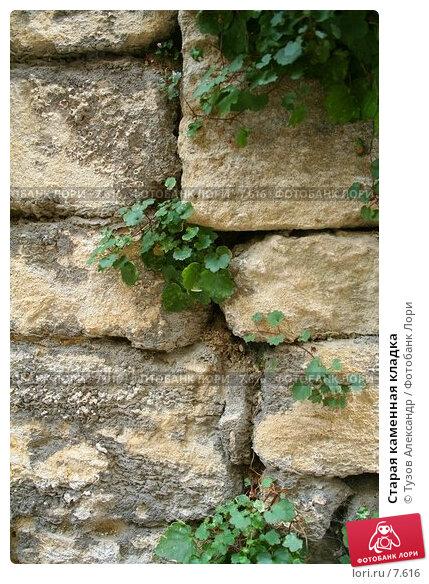Старая каменная кладка, фото № 7616, снято 20 августа 2006 г. (c) Тузов Александр / Фотобанк Лори