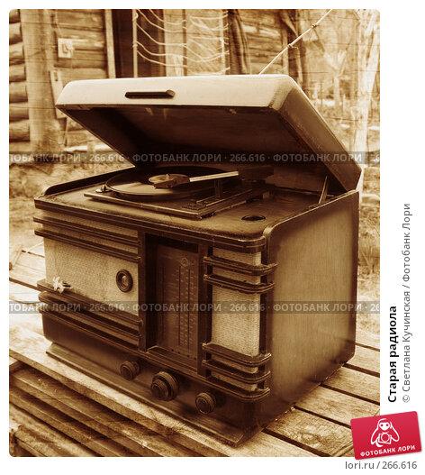Купить «Старая радиола», фото № 266616, снято 20 марта 2018 г. (c) Светлана Кучинская / Фотобанк Лори