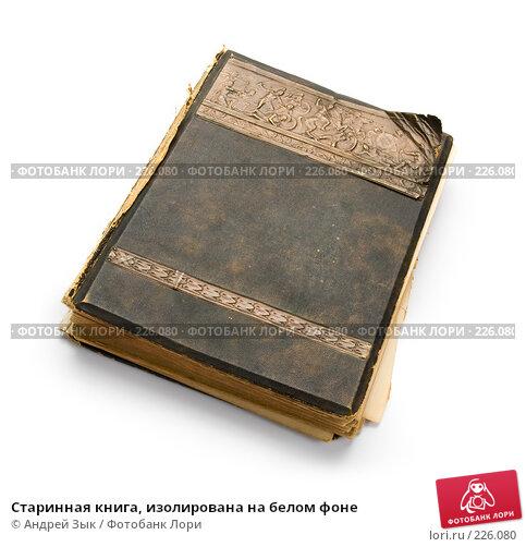 Старинная книга, изолирована на белом фоне, фото № 226080, снято 27 марта 2007 г. (c) Андрей Зык / Фотобанк Лори
