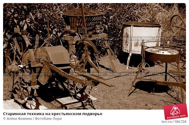 Купить «Старинная техника на крестьянском подворье», фото № 184724, снято 16 июня 2007 г. (c) Алёна Фомина / Фотобанк Лори