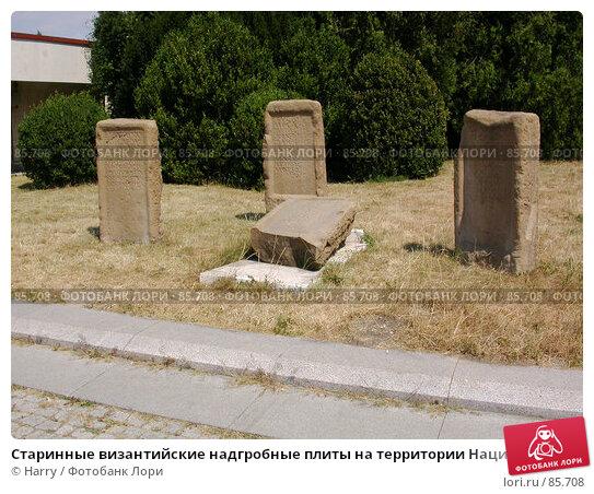 Старинные византийские надгробные плиты на территории Национального Исторического Музея в Софии, Болгария, фото № 85708, снято 29 июля 2007 г. (c) Harry / Фотобанк Лори