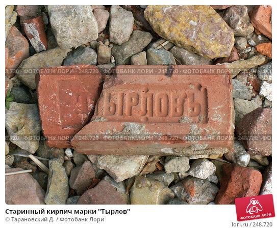"Старинный кирпич марки ""Тырлов"", фото № 248720, снято 5 августа 2006 г. (c) Тарановский Д. / Фотобанк Лори"