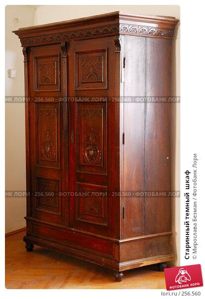 Старинный темный  шкаф, фото № 256560, снято 20 марта 2008 г. (c) Мирослава Безман / Фотобанк Лори