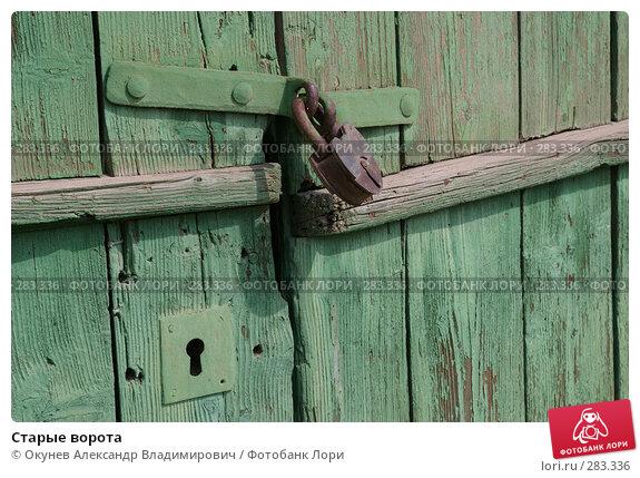 Старые ворота, фото № 283336, снято 10 мая 2008 г. (c) Окунев Александр Владимирович / Фотобанк Лори