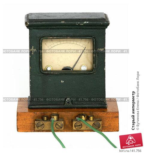 Старый амперметр, фото № 41756, снято 16 марта 2007 г. (c) Бутинова Елена / Фотобанк Лори