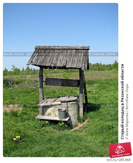 Старый колодец в Рязанской области, фото № 285964, снято 5 мая 2008 г. (c) Анна Маркова / Фотобанк Лори