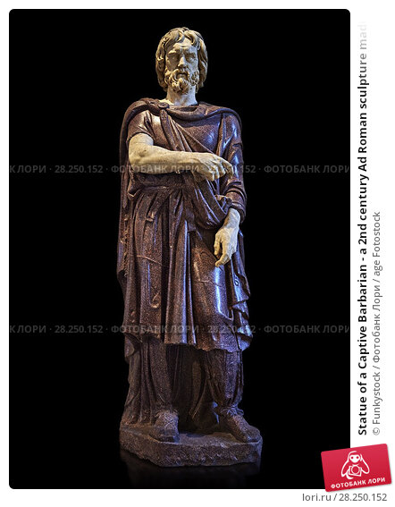 Купить «Statue of a Captive Barbarian - a 2nd century Ad Roman sculpture made in Porphyry and white marble from Rome, Italy. Restored by Pietro Benini brother...», фото № 28250152, снято 1 апреля 2017 г. (c) age Fotostock / Фотобанк Лори