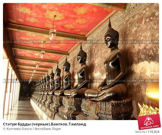 Статуи Будды (черные).Бангкок.Таиланд, фото № 118824, снято 23 марта 2007 г. (c) Колчева Ольга / Фотобанк Лори