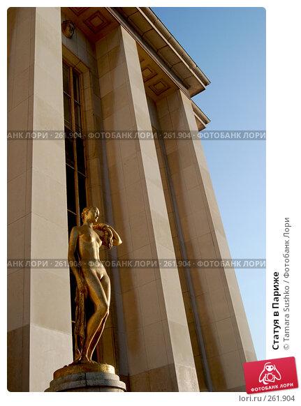 Статуя в Париже, фото № 261904, снято 24 декабря 2007 г. (c) Tamara Sushko / Фотобанк Лори
