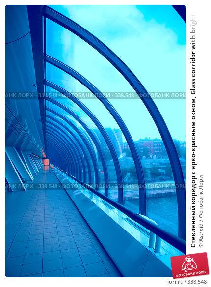 Стеклянный коридор с ярко-красным окном, Glass corridor with bright-red window, фото № 338548, снято 11 июня 2008 г. (c) Astroid / Фотобанк Лори