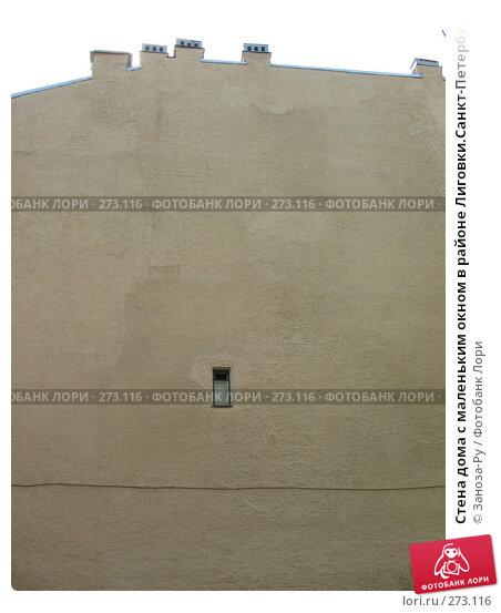 Купить «Стена дома с маленьким окном в районе Лиговки.Санкт-Петербург», фото № 273116, снято 1 мая 2008 г. (c) Заноза-Ру / Фотобанк Лори