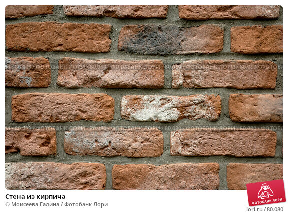 Стена из кирпича, фото № 80080, снято 30 июня 2007 г. (c) Моисеева Галина / Фотобанк Лори