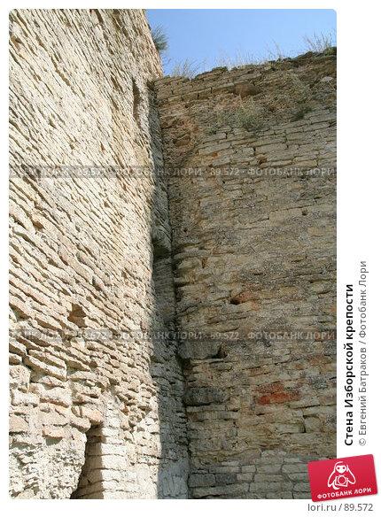 Купить «Стена Изборской крепости», фото № 89572, снято 18 августа 2007 г. (c) Евгений Батраков / Фотобанк Лори