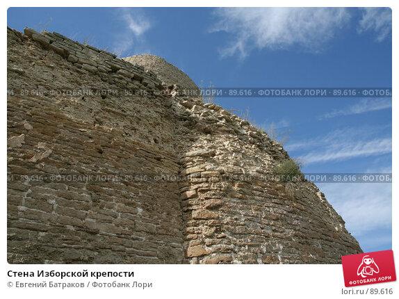 Стена Изборской крепости, фото № 89616, снято 18 августа 2007 г. (c) Евгений Батраков / Фотобанк Лори