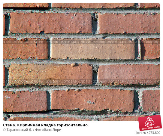Стена. Кирпичная кладка горизонтально., фото № 273800, снято 3 мая 2008 г. (c) Тарановский Д. / Фотобанк Лори
