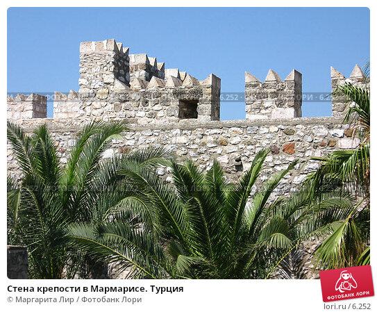 Стена крепости в Мармарисе. Турция, фото № 6252, снято 12 июля 2006 г. (c) Маргарита Лир / Фотобанк Лори