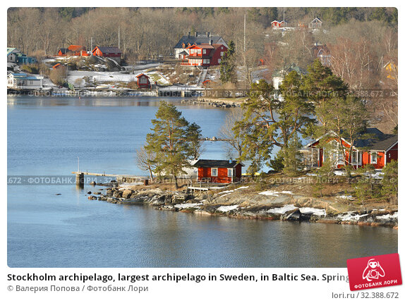 Купить «Stockholm archipelago, largest archipelago in Sweden, in Baltic Sea. Spring landscape», фото № 32388672, снято 27 марта 2018 г. (c) Валерия Попова / Фотобанк Лори