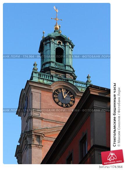 Стокгольмские башенные часы, фото № 174964, снято 4 января 2008 г. (c) Максим Соколов / Фотобанк Лори