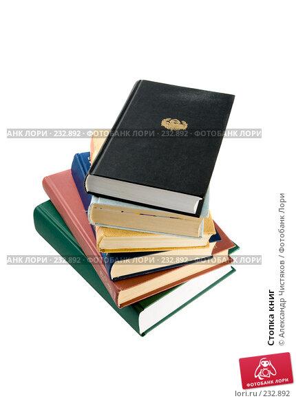 Купить «Стопка книг», фото № 232892, снято 20 февраля 2008 г. (c) Александр Чистяков / Фотобанк Лори