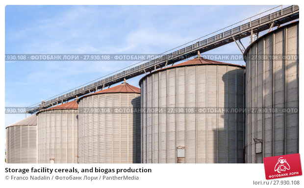 Купить «Storage facility cereals, and biogas production», фото № 27930108, снято 18 августа 2019 г. (c) PantherMedia / Фотобанк Лори