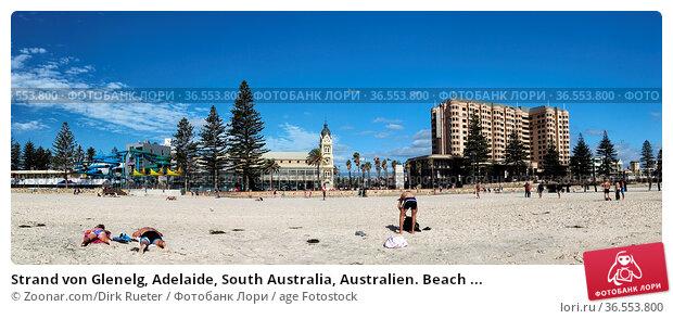 Strand von Glenelg, Adelaide, South Australia, Australien. Beach ... Стоковое фото, фотограф Zoonar.com/Dirk Rueter / age Fotostock / Фотобанк Лори