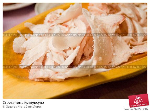 Купить «Строганина из муксуна», фото № 6858216, снято 19 февраля 2011 г. (c) Gagara / Фотобанк Лори