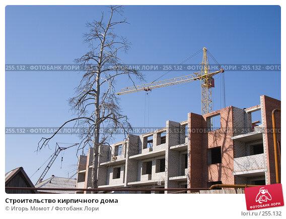 Строительство кирпичного дома, фото № 255132, снято 16 апреля 2008 г. (c) Игорь Момот / Фотобанк Лори